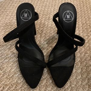 MISSGUIDED STRAPPY OPEN TOE HEELS